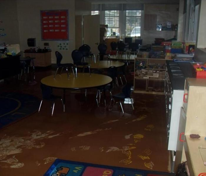 School Cleanup after Flood Before